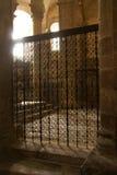 Λεπτομερή σχέδια της πύλης σιδήρου Στοκ Φωτογραφία