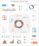 Λεπτομερή infographic στοιχεία που τίθενται με τη γραφική παράσταση και τα διαγράμματα Στοκ εικόνα με δικαίωμα ελεύθερης χρήσης