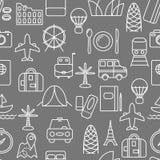Λεπτό άνευ ραφής σχέδιο εικονιδίων γραμμών Στοκ φωτογραφίες με δικαίωμα ελεύθερης χρήσης