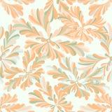 Λεπτό αφηρημένο άνευ ραφής σχέδιο λουλουδιών σε ένα άσπρο υπόβαθρο Στοκ Εικόνα