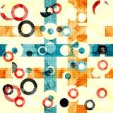 Λεπτό αφηρημένο γεωμετρικό υπόβαθρο χρωματισμένοι κύκλοι και γραμμές Επίδραση Grunge απεικόνιση αποθεμάτων