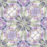 Λεπτό αφηρημένο διακοσμητικό κεραμίδι στο αναδρομικό ύφος στα χρώματα κρητιδογραφιών Στοκ Φωτογραφίες