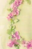 Λεπτό καλλιτεχνικό floral backgrodund με τα λουλούδια hortensia Στοκ φωτογραφία με δικαίωμα ελεύθερης χρήσης