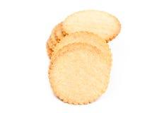 Λεπτό μπισκότο σε ένα άσπρο υπόβαθρο Στοκ φωτογραφίες με δικαίωμα ελεύθερης χρήσης