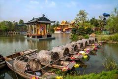Λεπτό στάδιο κήπων νερού δυτικών λιμνών Yangzhou Στοκ εικόνες με δικαίωμα ελεύθερης χρήσης