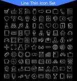 Λεπτό σύνολο εικονιδίων γραμμών Στοκ εικόνα με δικαίωμα ελεύθερης χρήσης