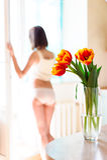 Λεπτό nude κορίτσι στοκ φωτογραφίες