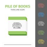 Λεπτύντε το ευθυγραμμισμένο εικονίδιο βιβλίων Στοκ Εικόνες