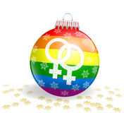Λεσβιακή σφαίρα Χριστουγέννων Στοκ εικόνα με δικαίωμα ελεύθερης χρήσης