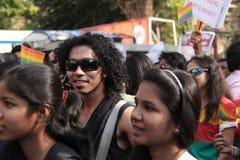 Λεσβιακός και ομοφυλοφιλικός Μάρτιος σε Mumbai Στοκ Εικόνες