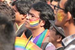 Λεσβιακός και ομοφυλοφιλικός Μάρτιος σε Mumbai Στοκ εικόνες με δικαίωμα ελεύθερης χρήσης