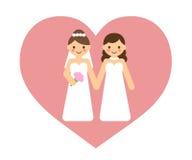 Λεσβιακό γαμήλιο ζεύγος Στοκ φωτογραφία με δικαίωμα ελεύθερης χρήσης