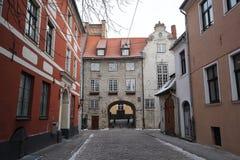 Λετονία παλαιά Ρήγα Σουηδική πύλη Στοκ εικόνες με δικαίωμα ελεύθερης χρήσης