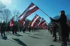 Στην αναμνηστική λετονική λεγεώνα Στοκ Φωτογραφίες