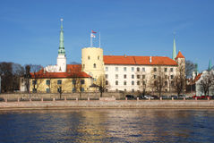 Λετονία. Το κάστρο της Ρήγας Στοκ φωτογραφία με δικαίωμα ελεύθερης χρήσης