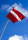 Λετονική σημαία Στοκ εικόνες με δικαίωμα ελεύθερης χρήσης