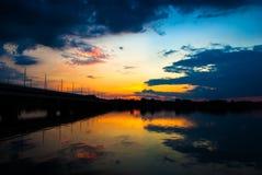 Λετονικό ηλιοβασίλεμα Στοκ Εικόνες