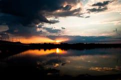 Λετονικό ηλιοβασίλεμα Στοκ Φωτογραφίες