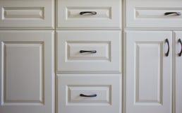 Λευκά γραφεία κουζινών Στοκ Εικόνα