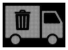 Λευκά ημίτοά Rubbish Transport Van Icon διανυσματική απεικόνιση