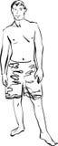 λευκές νεολαίες σορτ&sigm διανυσματική απεικόνιση