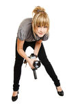 λευκές νεολαίες φωτο&gamm Στοκ Εικόνα