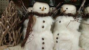 Λευκοί χιονάνθρωποι Χριστουγέννων Στοκ φωτογραφία με δικαίωμα ελεύθερης χρήσης