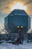 Λευκορωσία, Μινσκ - 16 Ιανουαρίου 2016: Εθνική βιβλιοθήκη κρατικού οργάνου της Λευκορωσίας Στοκ Φωτογραφίες