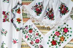 Λευκορωσία, τέχνες Πετσέτες, βελονιά σατέν Στοκ φωτογραφία με δικαίωμα ελεύθερης χρήσης