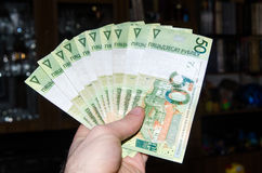 Λευκορωσικά χρήματα Λευκορωσικά χρήματα BYN Στοκ εικόνα με δικαίωμα ελεύθερης χρήσης
