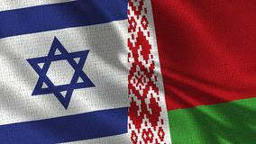 Λευκορωσική σημαία του Ισραήλ και - σημαία δύο από κοινού στοκ εικόνα με δικαίωμα ελεύθερης χρήσης