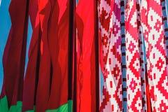 λευκορωσική σημαία Στοκ Φωτογραφία