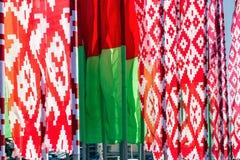 λευκορωσική σημαία Στοκ φωτογραφία με δικαίωμα ελεύθερης χρήσης