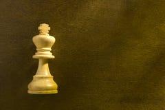 Λευκός βασιλιάς σκακιού Στοκ Φωτογραφίες