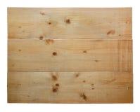 Λευκός ξύλινος πίνακας που απομονώνεται στο άσπρο υπόβαθρο Στοκ εικόνα με δικαίωμα ελεύθερης χρήσης