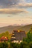 Λευκός οίκος στα βουνά, Πολωνία Στοκ Φωτογραφία