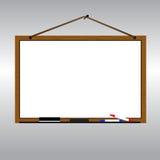 Λευκός πίνακας με την ένωση σχοινιών στο διάνυσμα καρφιών Στοκ φωτογραφίες με δικαίωμα ελεύθερης χρήσης