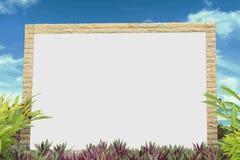 Λευκός πίνακας στη φύση Στοκ εικόνα με δικαίωμα ελεύθερης χρήσης