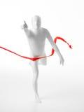 Λευκός στη γραμμή τερματισμού Στοκ φωτογραφία με δικαίωμα ελεύθερης χρήσης
