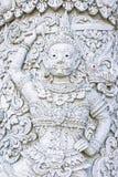 Λευκός φύλακας δαιμόνων στο ναό Ming Mueang, επαρχία γιαγιάδων, Thaila Στοκ Εικόνα