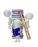 Λευκός χαρακτήρας με το βιβλίο απεικόνιση αποθεμάτων