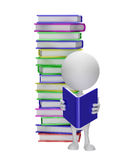 Λευκός χαρακτήρας με το βιβλίο διανυσματική απεικόνιση