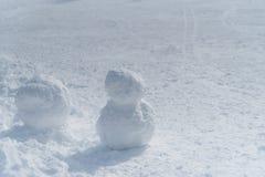 Λευκός χιονάνθρωπος στον τομέα σκι στοκ φωτογραφίες