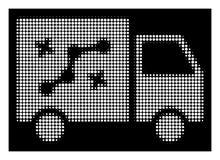 Λευκός Halftone Route Van Icon διανυσματική απεικόνιση