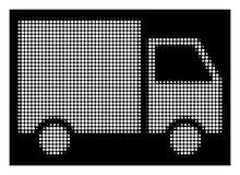 Λευκός Halftone Shipment Van Icon ελεύθερη απεικόνιση δικαιώματος