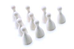 Λευκό δέκα καρφιτσών Στοκ Εικόνα