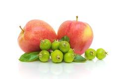 λευκό ανασκόπησης μήλων Στοκ Φωτογραφίες