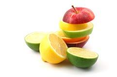 λευκό ανασκόπησης μήλων Στοκ Φωτογραφία
