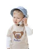 λευκό ανασκόπησης μωρών στοκ φωτογραφία