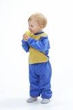 λευκό ανασκόπησης μωρών Στοκ Εικόνα